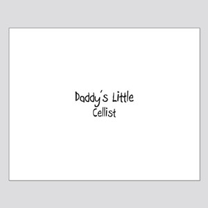 Daddy's Little Cellist Small Poster