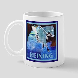 Blue Reining Horse Mug