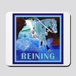 Blue Reining Horse Mousepad