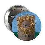 Roar Stitched Lion Button