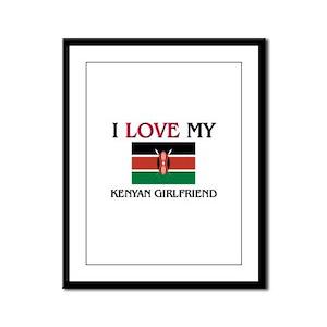I Love My Kenyan Girlfriend Framed Panel Print