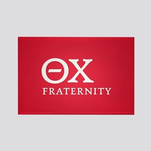 Theta Chi Letters Rectangle Magnet