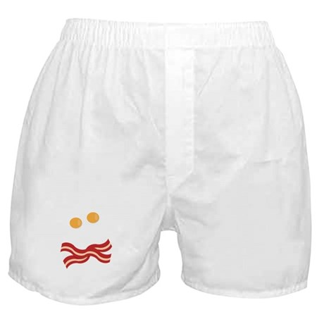 Bacon and Eggs Skull Boxer Shorts