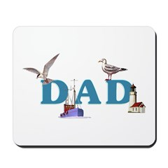 Dad's Fishing Place Mousepad