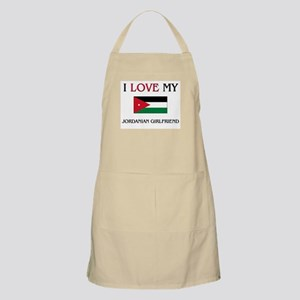 I Love My Jordanian Girlfriend BBQ Apron