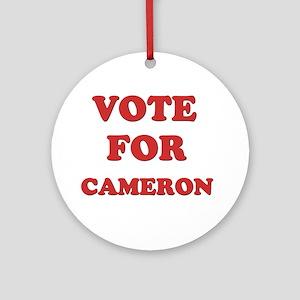 Vote for CAMERON Ornament (Round)