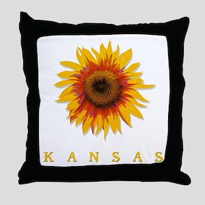 Kansas Sunflower Throw Pillow