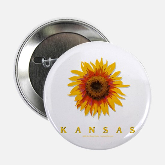 "Kansas Sunflower 2.25"" Button"