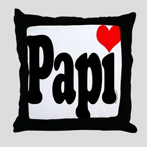 I love Papi Throw Pillow