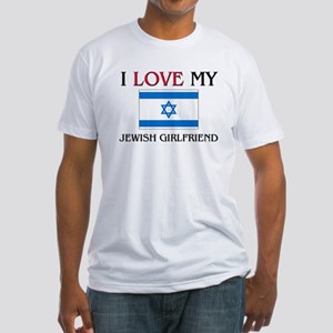 I Love My Jersey Girlfriend Fitted T-Shirt