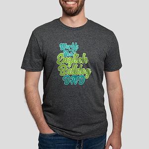 Best English Bulldog Dad Mens Tri-blend T-Shirt