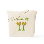 Go Green Palm Trees Reusable Tote Bag
