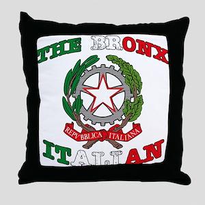 The Bronx Italian Throw Pillow