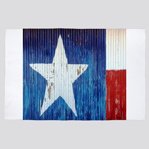 country rustic texas flag 4' x 6' Rug