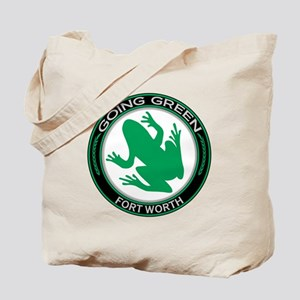 Going Green Fort Worth Frog Tote Bag