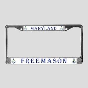 Maryland Masons License Plate Frame