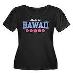 Made in Hawaii Women's Plus Size Scoop Neck Dark T