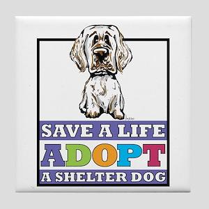 Adopt a Clumber Tile Coaster
