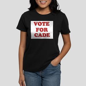 Vote for CADE Women's Dark T-Shirt