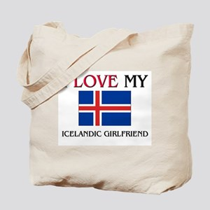 I Love My Icelandic Girlfriend Tote Bag