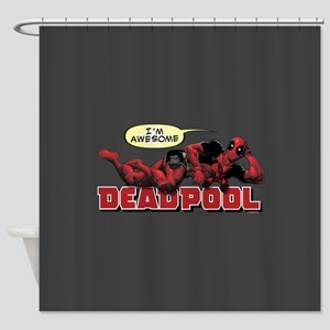 Deadpool Awesome Shower Curtain