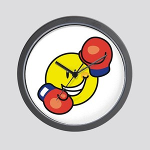 Smile Face Boxing Wall Clock