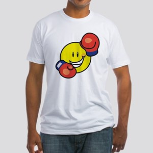 Smile Face Boxing Fitted T-Shirt