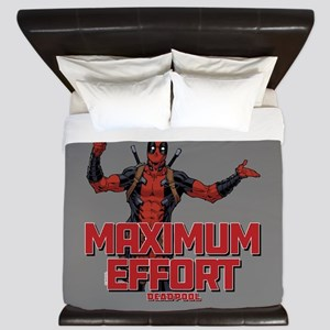 Deadpool Maximum Effort King Duvet