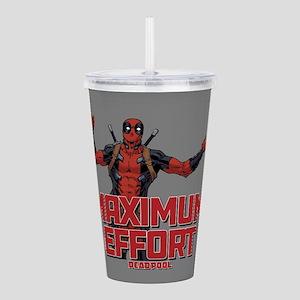 Deadpool Maximum Effor Acrylic Double-wall Tumbler