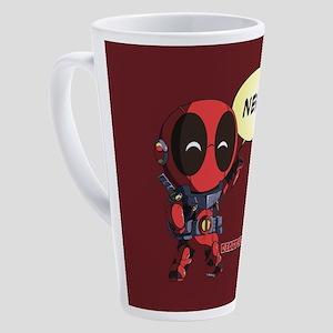 Deadpool Nerd 17 oz Latte Mug