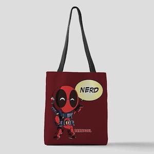 Deadpool Nerd Polyester Tote Bag