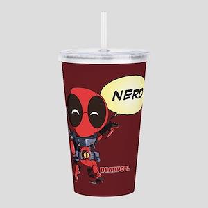 Deadpool Nerd Acrylic Double-wall Tumbler