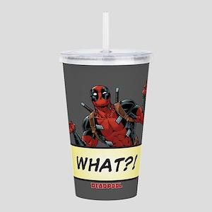 Deadpool What Acrylic Double-wall Tumbler