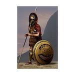 Spartan officer @ Thermopylae Mini Poster Print