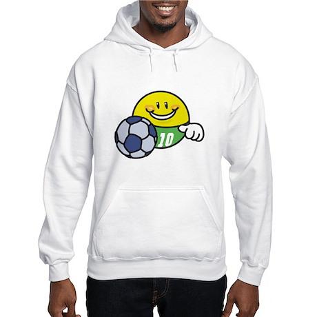 Smile Face Soccer Hooded Sweatshirt