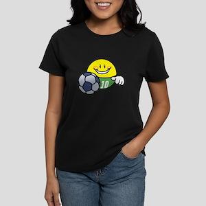 Smile Face Soccer Women's Dark T-Shirt