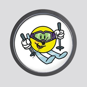 Smile Face Skiing Wall Clock