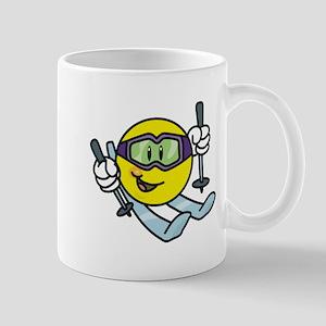 Smile Face Skiing Mug