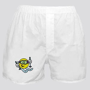 Smile Face Skiing Boxer Shorts