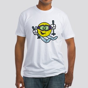 Smile Face Skiing Fitted T-Shirt