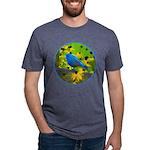 Indigo Bunting Mens Tri-blend T-Shirt
