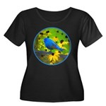 Indigo B Women's Plus Size Scoop Neck Dark T-Shirt
