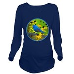 Indigo Bunting Long Sleeve Maternity T-Shirt