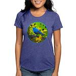 Indigo Bunting Womens Tri-blend T-Shirt
