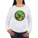 Indigo Bunting Women's Long Sleeve T-Shirt