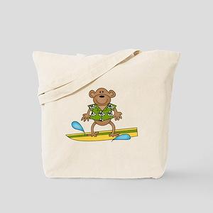 Monkey Surfer Tote Bag