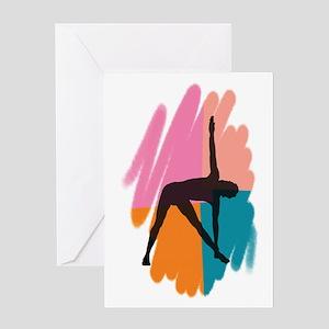 Yoga Triangle Pose Greeting Card