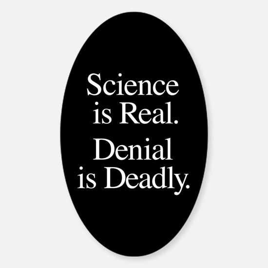 Science Is Real Sticker (Oval)