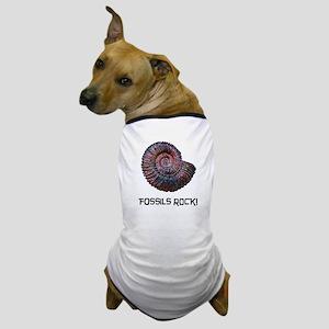 Fossils Rock! Dog T-Shirt