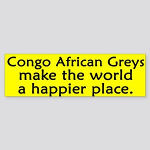 Happy Place Congo African Grey Bumper Sticker
